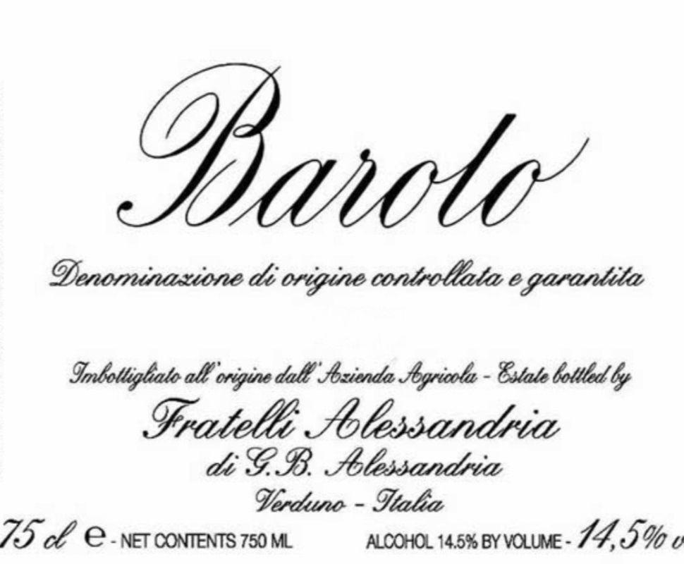 Fratelli Alessandria Barolo...