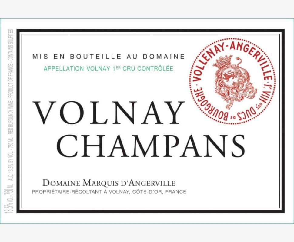 Marquis d'Angerville Volnay...