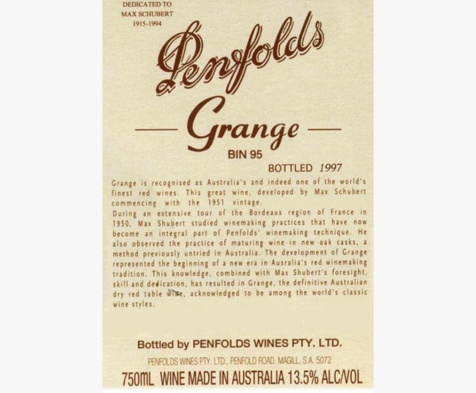 Penfolds 1999 Grange