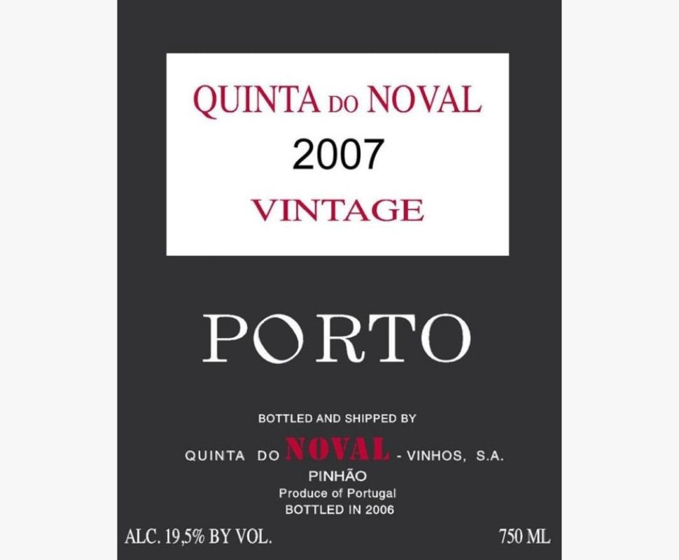 Quinta Do Noval 2007...