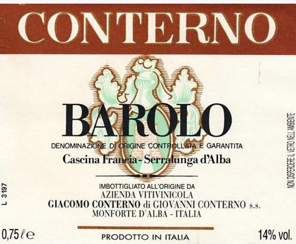Conterno Giacomo Barolo 1958