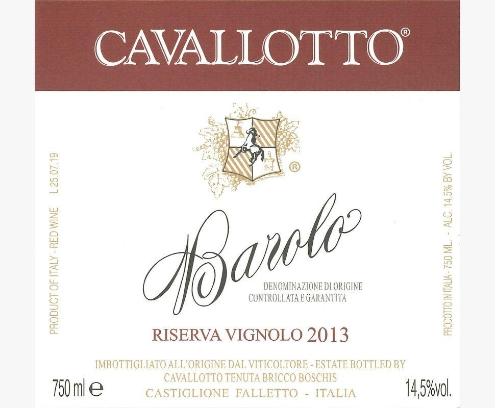 Cavallotto Barolo Docg 2013...