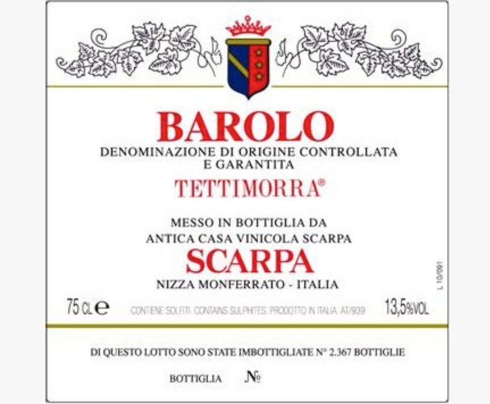 Scarpa Barolo Docg 2017...