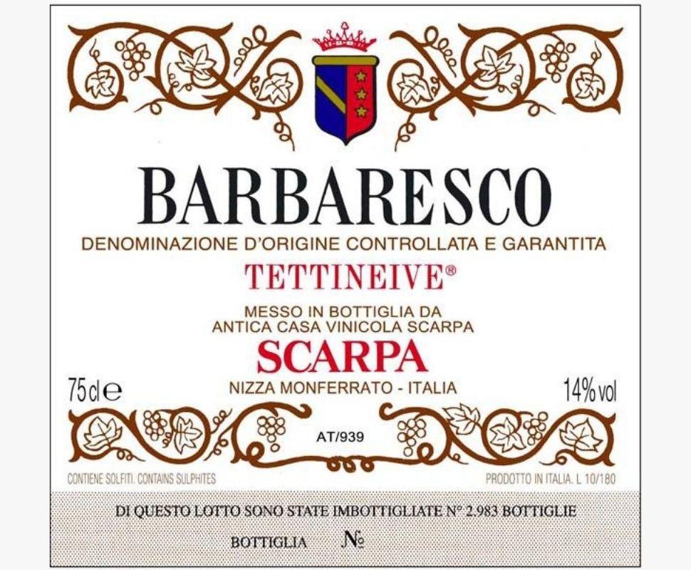Scarpa Barbaresco Docg 2018...