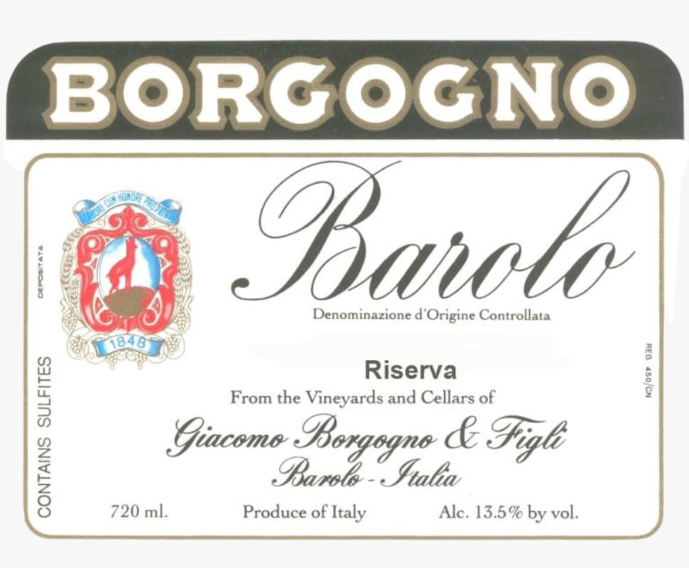 Borgogno Barolo 2013 Riserva