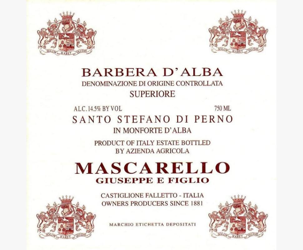 Mascarello Giuseppe Barbera...