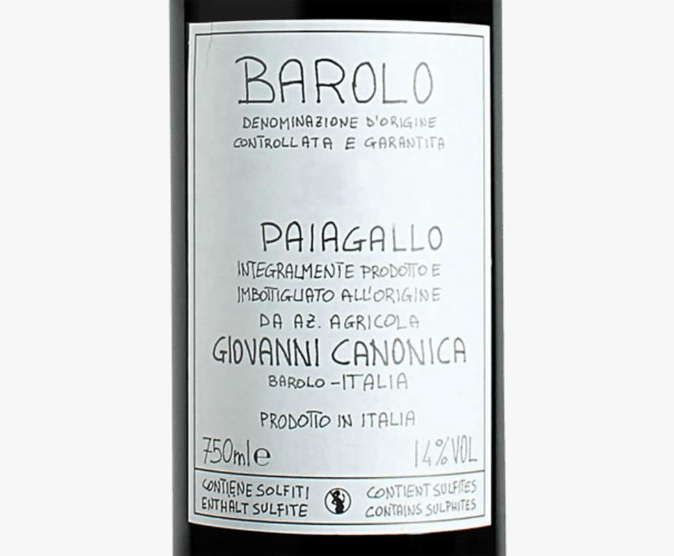 Canonica Giovanni Barolo...